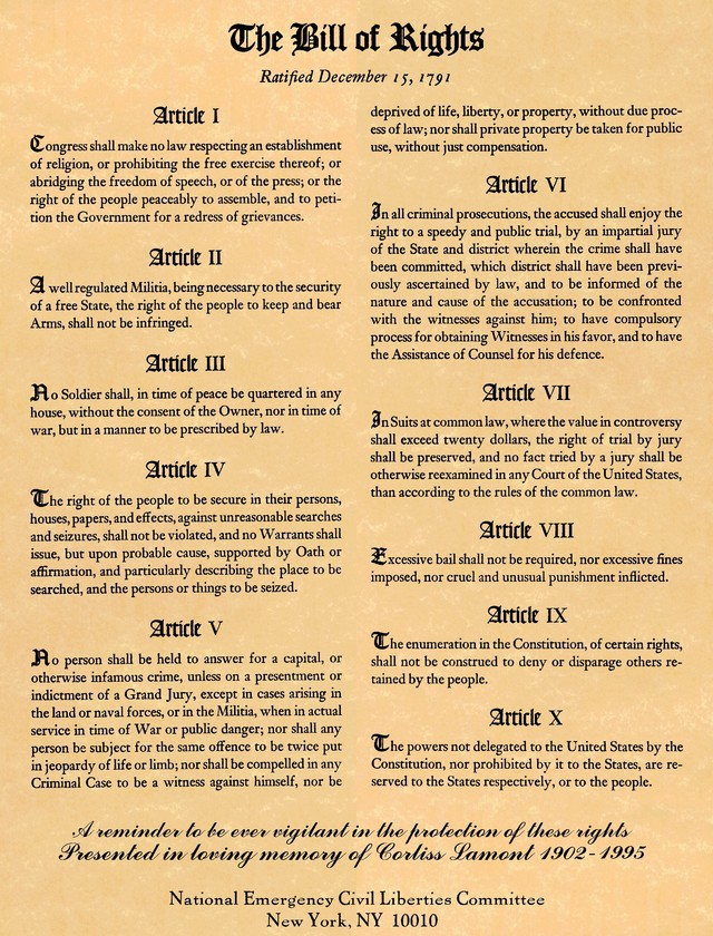 Bill Of Rights Amendments 4